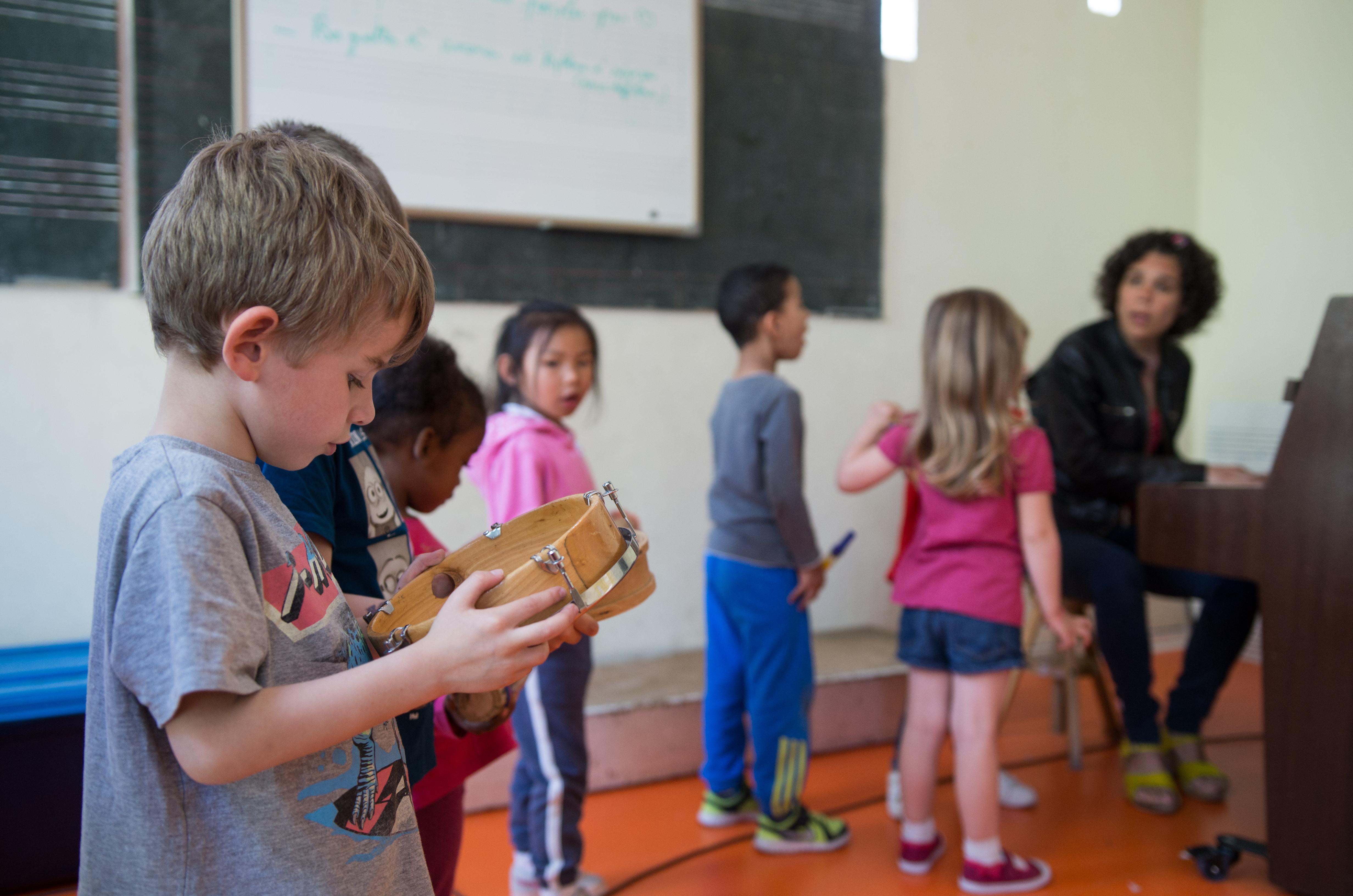 Cours d'Eveil Musical - Crédit Photo Didier Azouzou